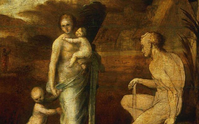 From 'Adam and Eve with Cain and Abel,' by Fra Bartolomeo (Bartolomeo di Paolo), also called Baccio della Porta, Italian, by 1512, John G. Johnson Collection, 1917, Philadelphia Museum of Art.
