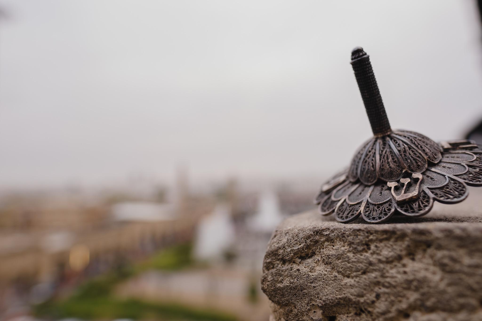 A dreidel at the Citadel in Erbil.