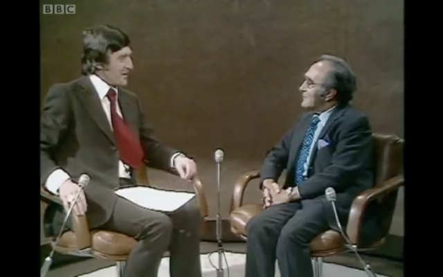 Screenshot from Michael Parkinson's interview with Dr Jacob Bronowski 1974