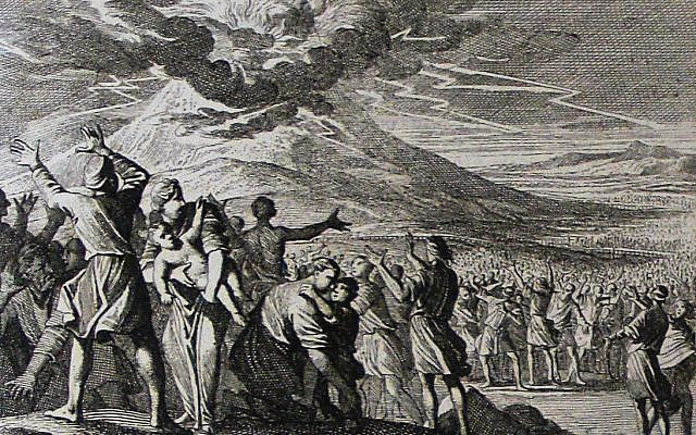 https://commons.wikimedia.org/wiki/File:The_Phillip_Medhurst_Picture_Torah_428._Moses_receives_the_Ten_Commandments._Exodus_cap_20_vv_18-19._Caspar_Luyken.jpg