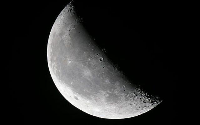 Waning half moon. Wikimedia Commons.