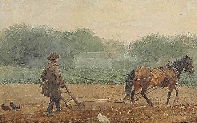 Winslow Homer - The Plowman, 1878. (Public Domain/ Wikimedia Commons)