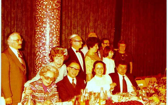 Menachem Begin and his wife Aliza, sitting down in the center, with my Uncle Jackie in the tuxedo standing behind him next to my Aunt Ruthie on his left.