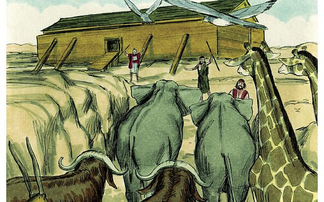 Book of Genesis Chapter 7-2 (Bible Illustrations by Jim Padgett, courtesy of Sweet Publishing, Fort Worth, Texas, and Gospel Light, Ventura, California,1984. (Wikimedia Commons)