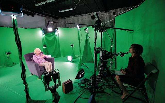 Creating a virtual reality project using a 'green room', where a Holocaust survivor gives testimony for future generations (Via Jewish News)