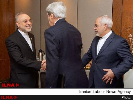 صالحی - کری- ظریف- مذاکرات برجام 2015 - منبع: ایلنا