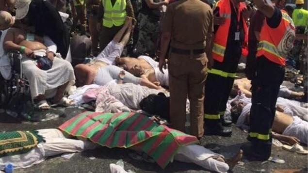 کشته ها در منا - عکس از صدا و سیما