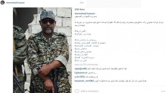 فرمانده سپاه در سوریه - اینستاگرام