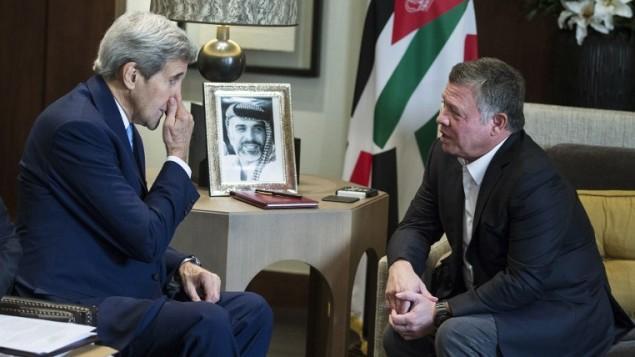 شاه اردن و وزیر خارجه آمریکا- خبرگزاری فرانسه: کارلو آلگری
