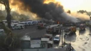 آتش سوزی عظیم در تل آویو