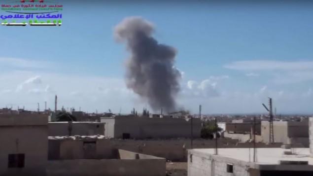 حمله روسیه به سوریه - تصویر از یوتیوب