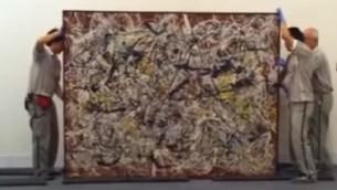 اثر پولاک «دیوارنگاری بر زمینه قرمز هندی»