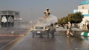تصویری منتشر شده از بخشی از مانور در مشهد - واحد مرکزی خبر