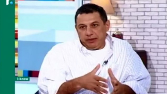 نزار ذاکا- بازداشتی در ایران- عکس از اسکرین شات