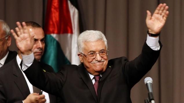 """پرزیدنت محمود عباس، سخنرانی در """"کوپر یونیون"""" در نیویورک، 22 سپتامبر 2014 (عکس:AP/Jason DeCrow)"""