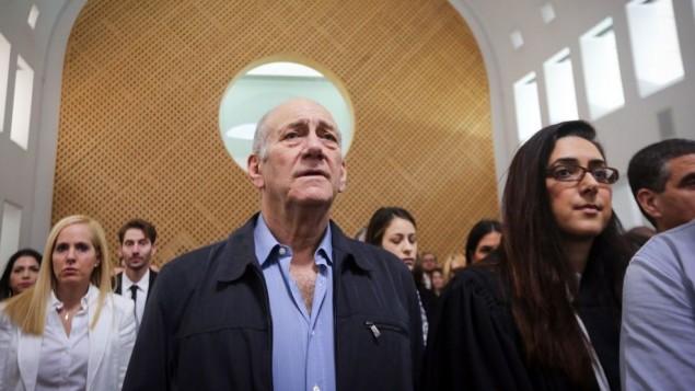 نخست وزیر پیشین اهود اولمرت در دیوان عالی اورشلیم- گیل یوحانان