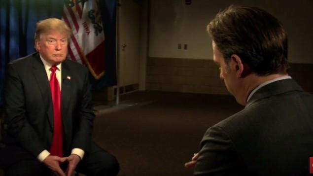 دونالد ترامپ کاندیدای جمهوریخواهان برای ریاست جمهوری آمریکا حین مصاحبه با جیک تاپر «استیت آف د یونیون»، سی ان ان