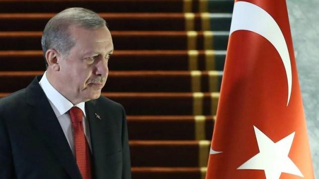 رئیس جمهور ترکیه رجب طیب اردوغان در یک مراسم رسمی در کاخ ریاست جمهوری - خبرگزاری فرانسه
