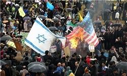 سوزاندن پرچم های آمریکا، بریتانیا و اسرائیل