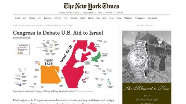 عکس از  آگهی منتشر شده در نیویورک تایمز قلابی