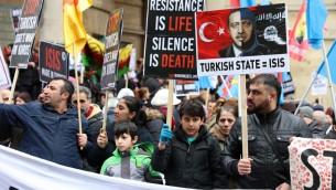 اعتراض به اقدامات سرکوبگرانه دولت ترکیه