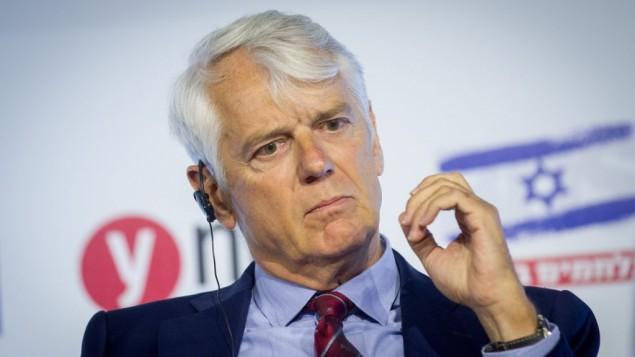 لارس فابورگ-آندرسن، سفیر اتحادیه اروپا، در کنفرانس یدیوت آهارونوت «مقابله با بایکوت»، در مرکز کنوانسیون اورشلیم - مریام آلستر
