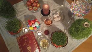 سفره هفت سین نوروز 95، یاسمین شالوم متحده متولد گلپایگان و مقیم شهر مودیعین در اسرائیل