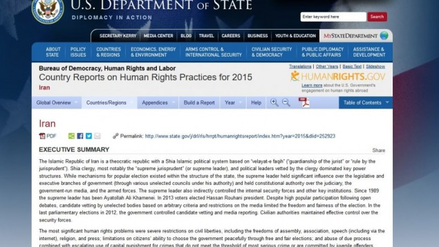 Country Reports on Human Rights Practices for 2015
