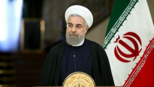 رئیس جمهور ایران حسن روحانی در کاخ سعادت آباد