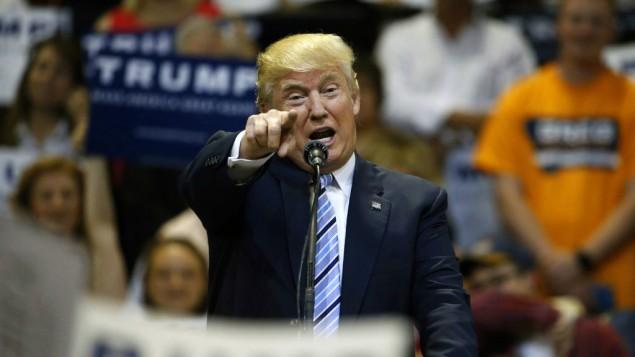 دونالد ترامپ نامزد جمهوری خواهان برای انتخابات ریاست جمهوری، در بیلینگ مانتانا در ۲۶ می ۲۰۱۶ سخنرانی می کند
