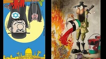 یکی از طرحهای ارسال شده به مسابقه کارتون انکار هولوکاست با حمایت مالی ایران
