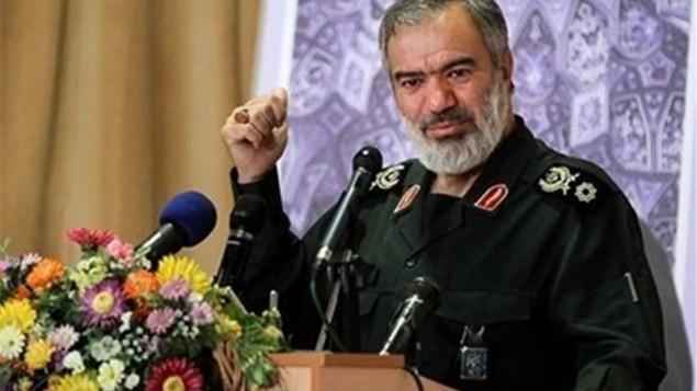 علی فدوی فرمانده نیروی دریایی سپاه پاسداران