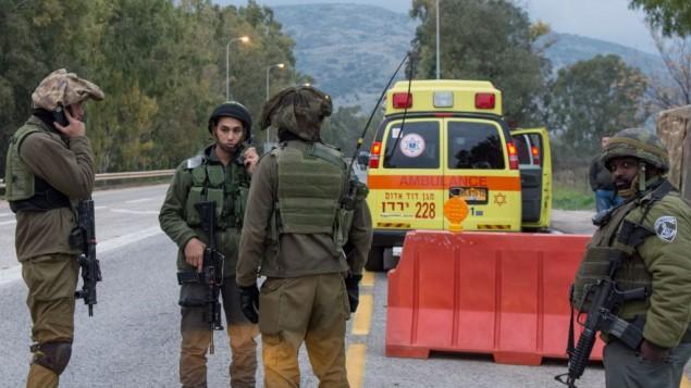 سربازهای اسرائیل در مرز لبنان پس از حمله به یک گشت نظامی