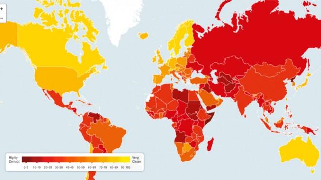 وضعیت فساد و شفافیت مالی در کشورهای مختلف