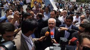 محمد جواد ظریف وزیر خارجه دولت حسن روحانی