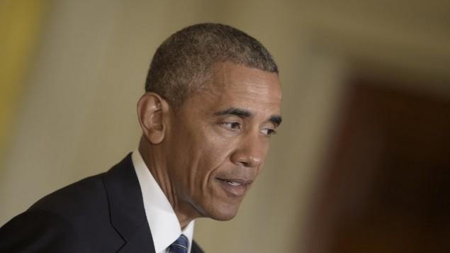 رئیس جمهور ایالات متحده باراک اوباما ۲ آگوست ۲۰۱۶ در حین سخنرانی در کنفرانس مشترک رسانه ای با نخست وزیر سنگاپور لی هسین لونگ در کاخ سفید