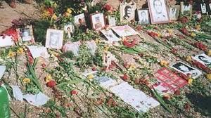 گورستان خاوران که بخشی از اعدام شدگان 1367 به صورت دسته جمعی در آن نقطه مدفون شدند