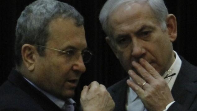 ایهود باراک و بنیامین نتانیاهو