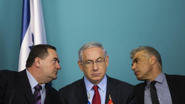 ییسرائيل کتز، وزیر حمل و نقل و بنیامین نتانیاهو نخست وزیر