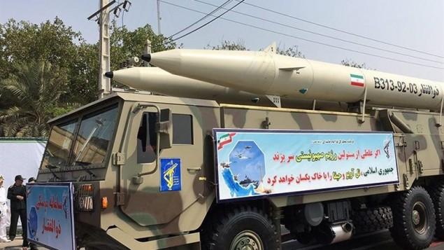 رونمایی سامانه موشکی ذوالفقار توسط سپاه پاسداران