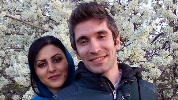 گلرخ ابراهیمی ایرایی و شوهرش آرش صادقی