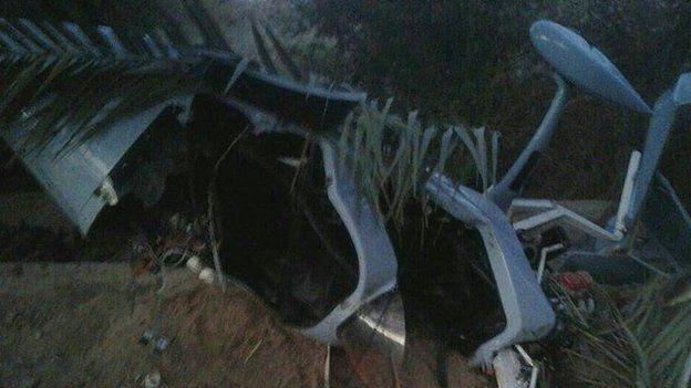 هواپیمای جایرو پلن متعلق به سپاه پاسداران در جریان انجام ماموریت شناسایی دچار سانحه شد و سقوط کرد