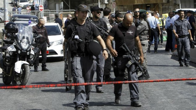 پلیس اسرائيل در محل حادثه