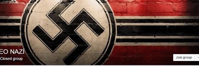 تصویری که یک گروه نو-نازی در فیسبوک به کار برده است