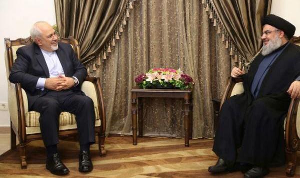 دیدار محمد جواد ظریف و دبیر کل تشکل تروریستی حزب الله لبنان