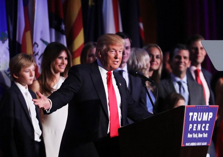 دونالد ترامپ رئیسجمهور منتخب