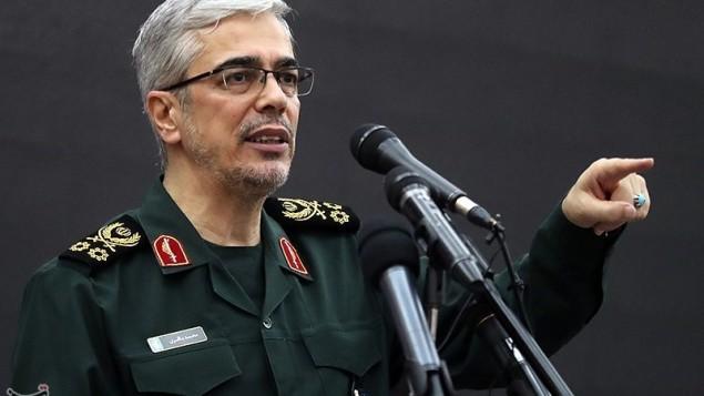پاسدار محمد باقری رئیس ستادکل نیروهای مسلح