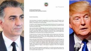 نامه رضا پهلوی به دونالد ترامپ درباره خطر درگیری نظامی با ایران