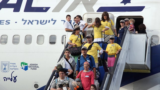 مهاجرین جدیدی که به فرودگاه بنگوریون اسرائیل رسیدند