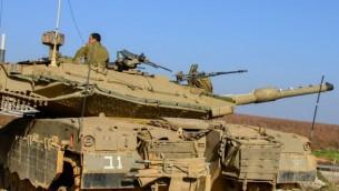 نیروهای دفاعی اسرائیل در بلندیهای جولان در شمال اسرائیل
